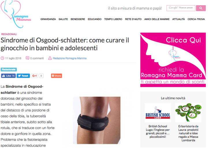 Sindrome di Osgood-schlatter: come curare il ginocchio in bambini e adolescenti